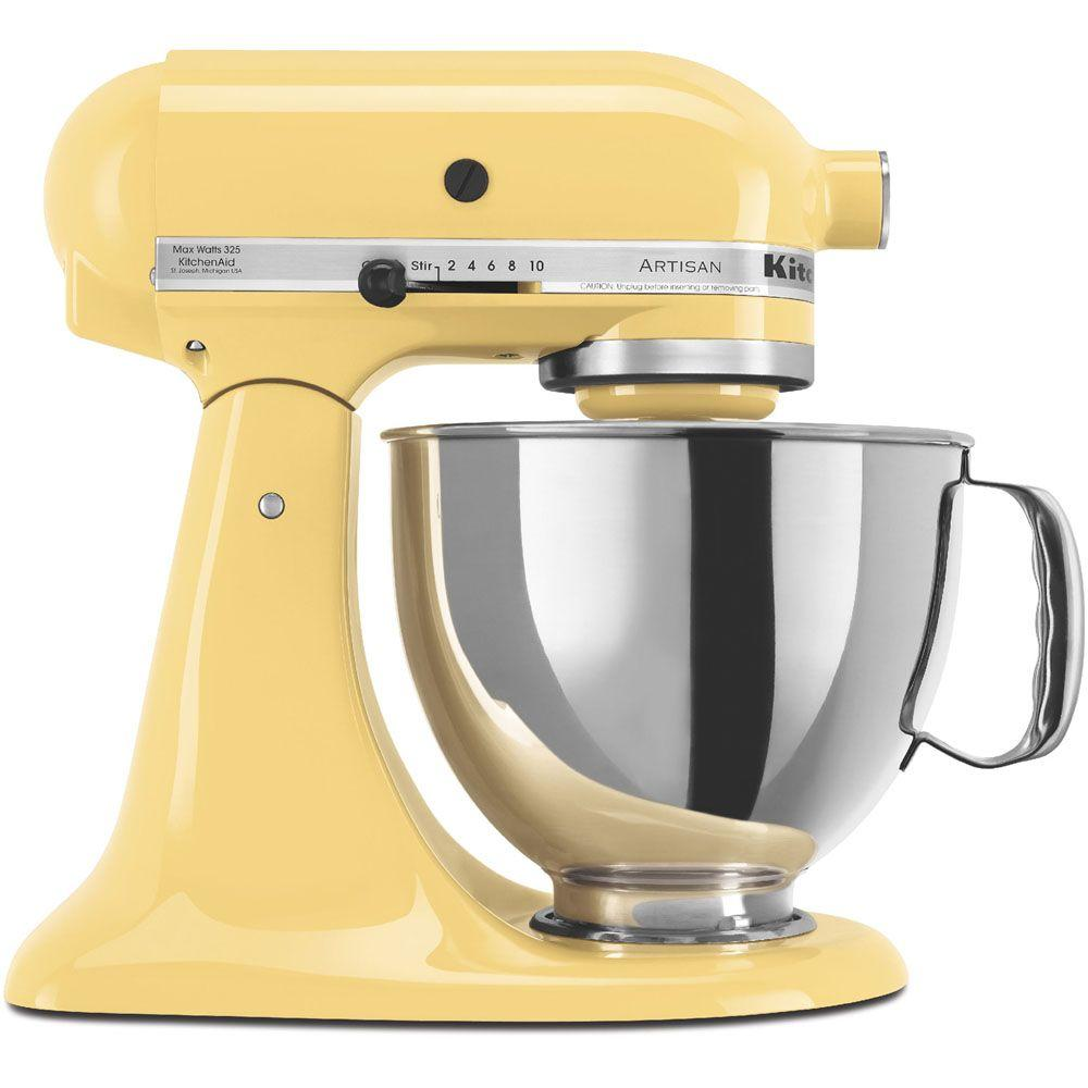 KitchenAid Artisan Series 5 Qt. Stand Mixer in Majestic Yellow-KSM150PSMY -