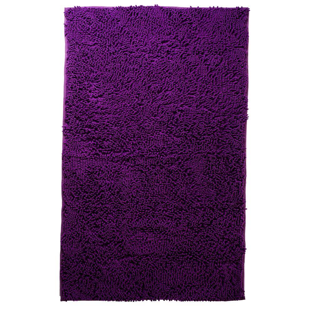 Lavish home purple 1 ft 9 in x 3 ft accent rug 67 12 pu for Rugs with purple accents