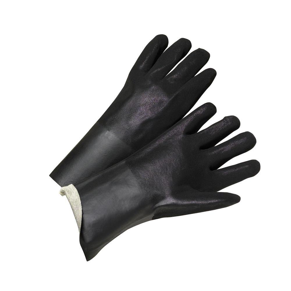 West Chester 14 in. Rough Grip Large PVC Interlock Gloves (12-Pack)-1047RF