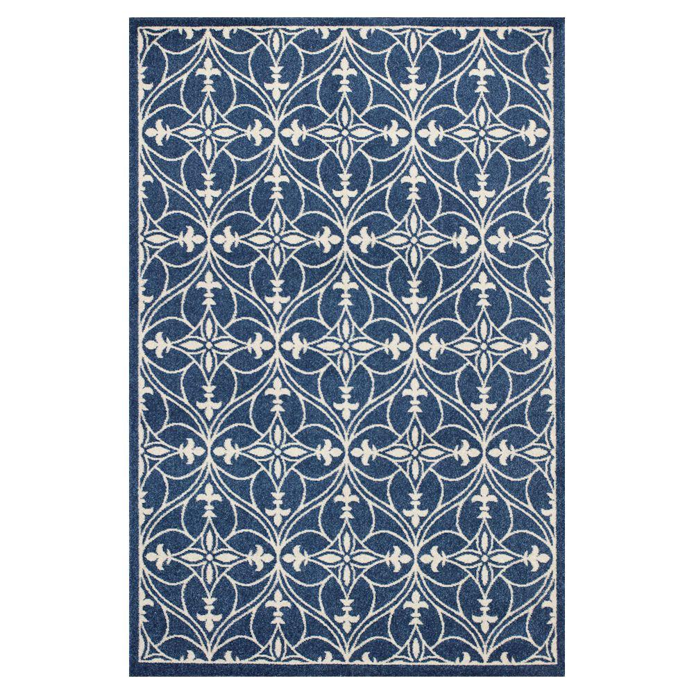 Kas Rugs Palmetto Blue 3 ft. 3 in. x 4 ft.
