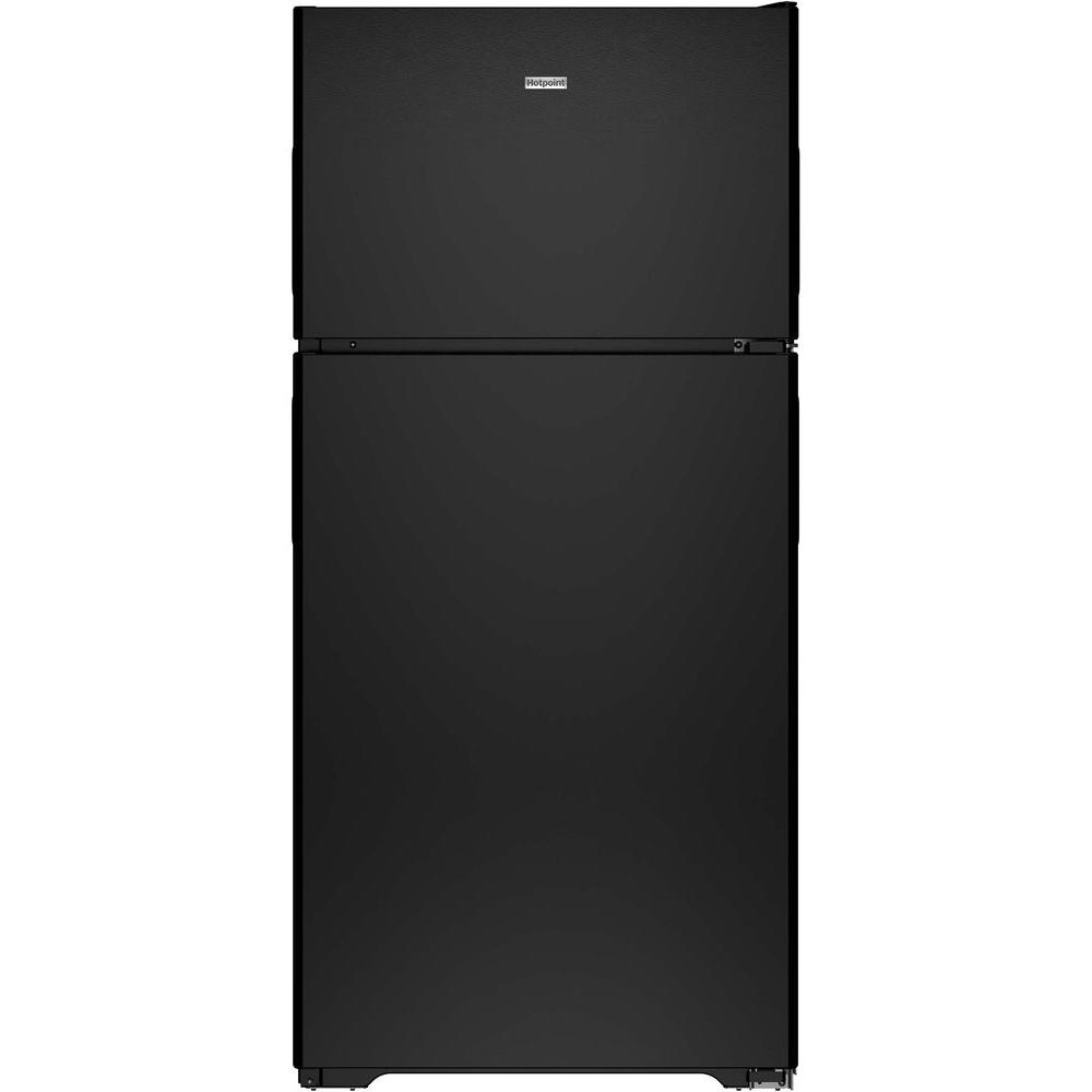 Hotpoint 14.6 cu. ft. Top Freezer Refrigerator in Black-HPS15BTHRBB - The