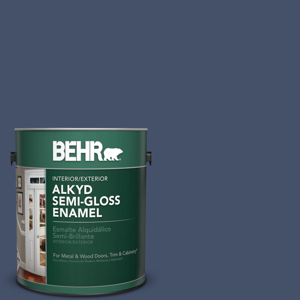 Behr 1 gal ppu15 18 vintage velvet semi gloss enamel for What are alkyd paints