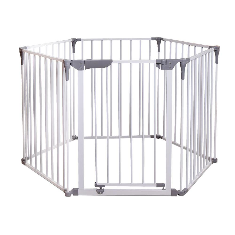 29 in. H Royale Converta 3-in-1 Play-Yard and Wide Barrier Gate
