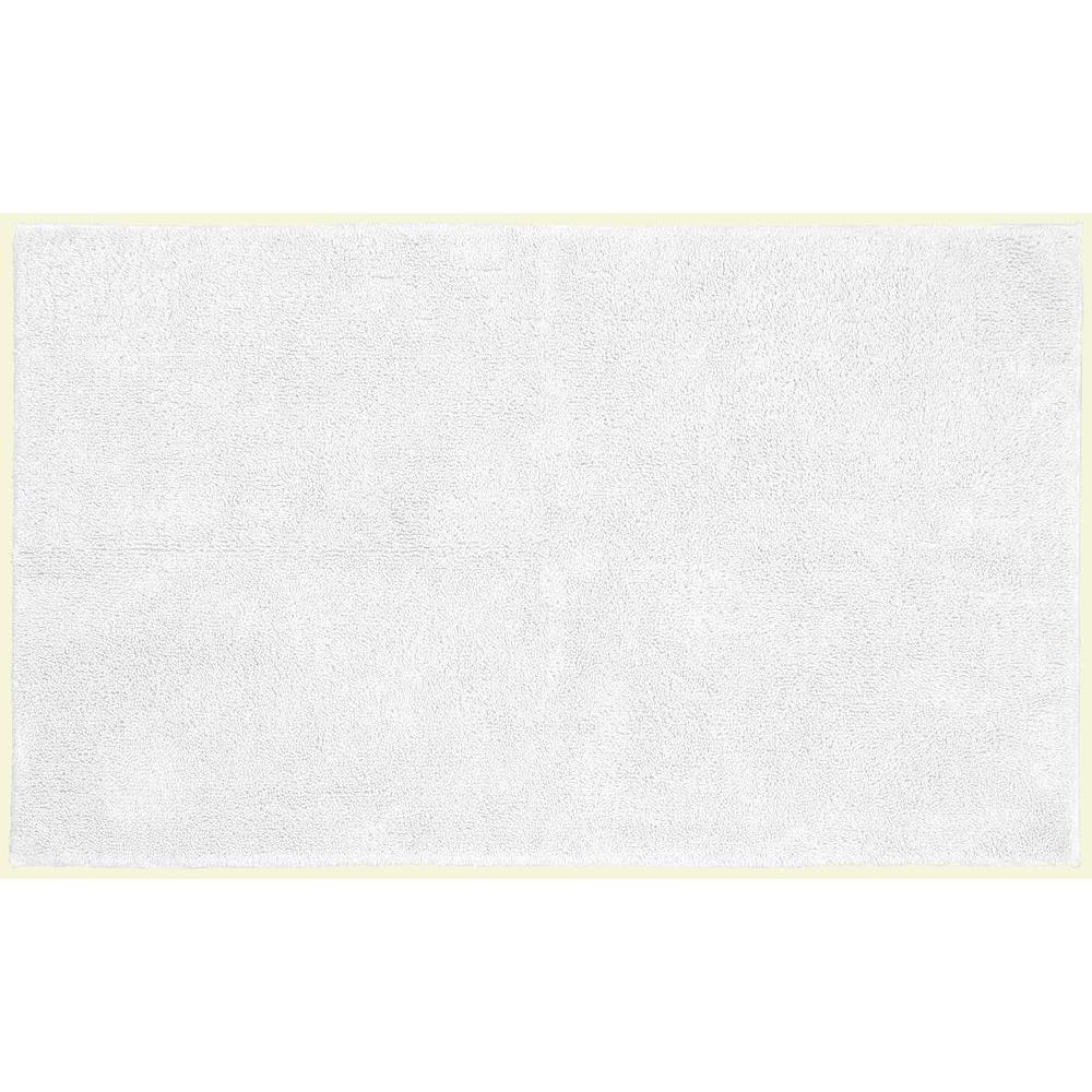 Garland Rug Queen Cotton White 30 in. x 50 in. Washable ...