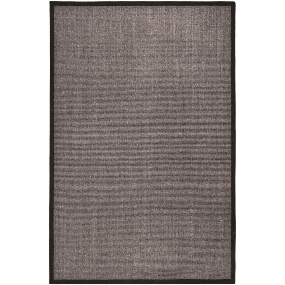 Natural Fiber Charcoal/Charcoal 5 ft. x 8 ft. Area Rug
