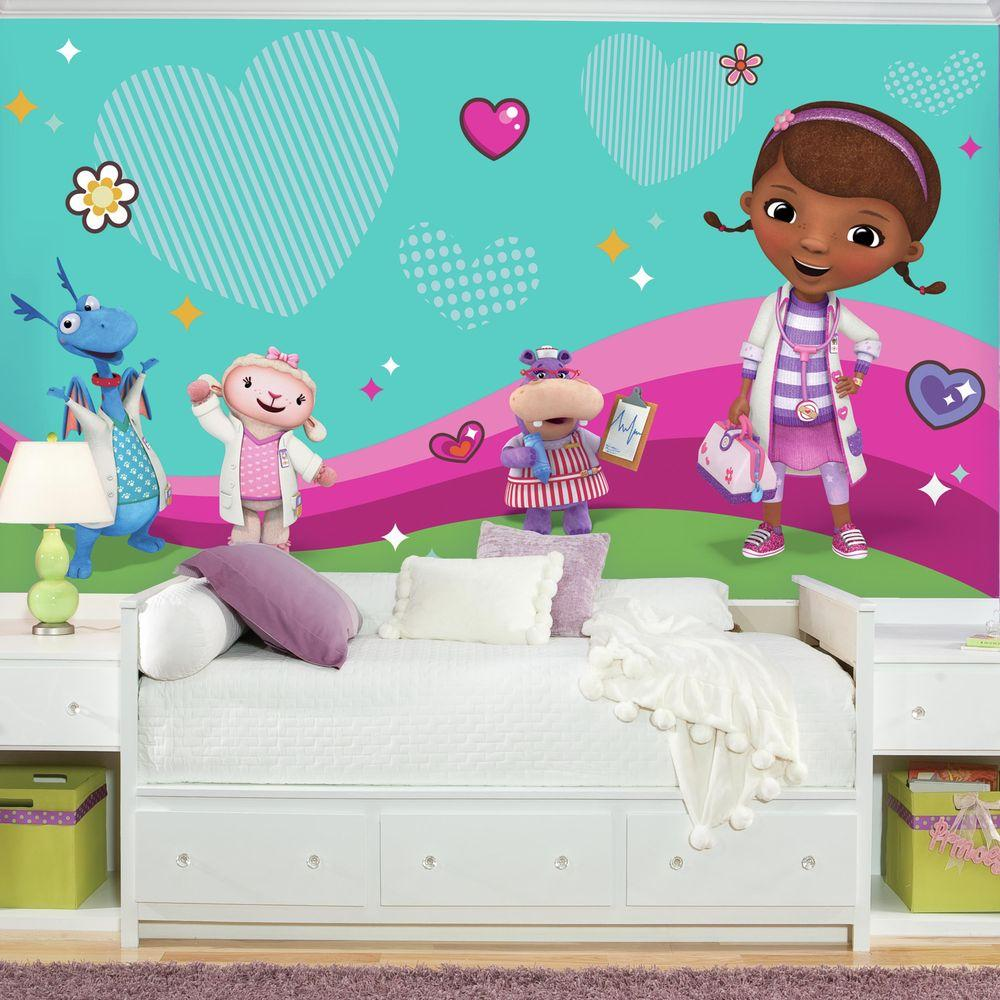72 in. W x 126 in. H Doc Mcstuffins and Friends