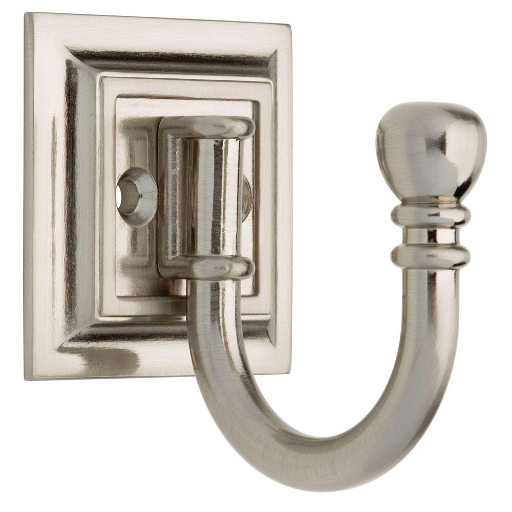 Liberty 5 in. Satin Nickel Architectural Ball End Hook-125560 - The