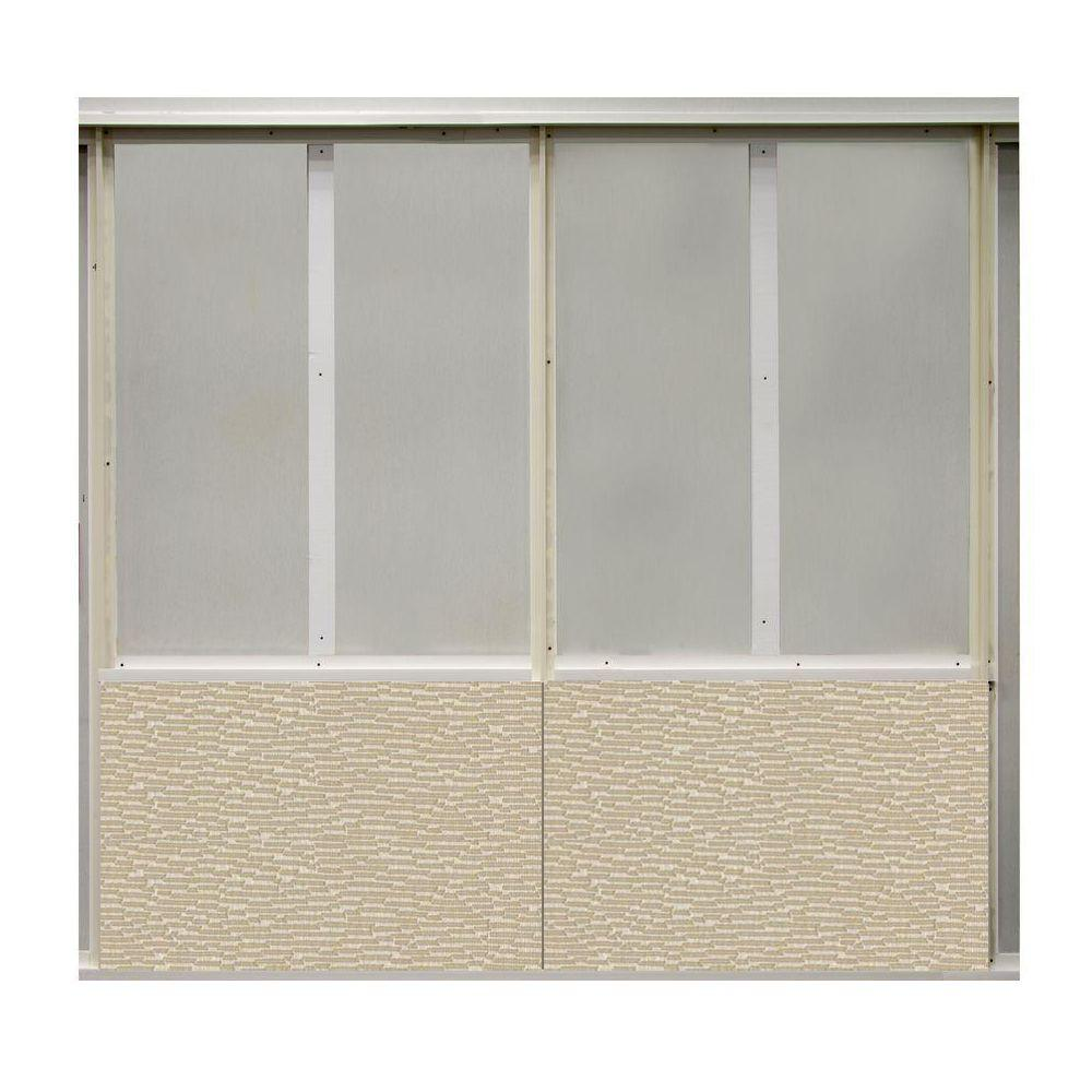 SoftWall Finishing Systems 20 sq. ft. Alabaster Fabric Covered Bottom Kit Wall Panel