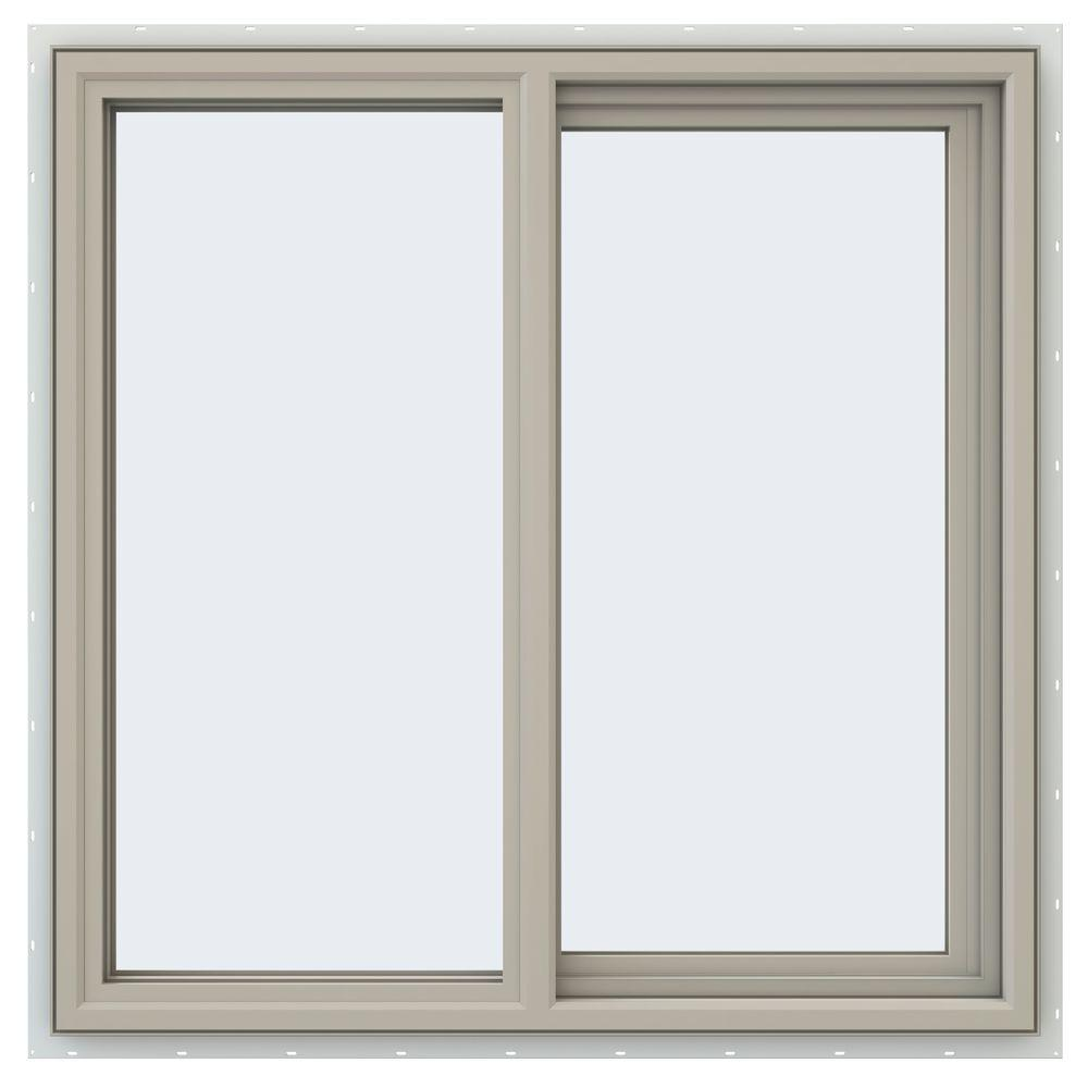 35.5 in. x 35.5 in. V-4500 Series Right-Hand Sliding Vinyl Window
