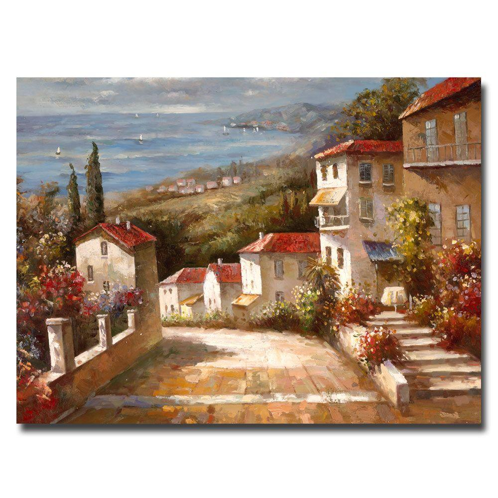 24 in. x 32 in. Home in Tuscany Canvas Art