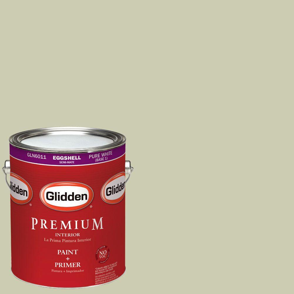 1-gal. #HDGG22D Juniper Berry Sage Eggshell Latex Interior Paint with Primer
