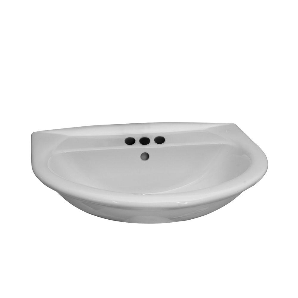 Barclay Products Karla 650 Wall-Hung Bathroom Sink in White-4-854WH - The