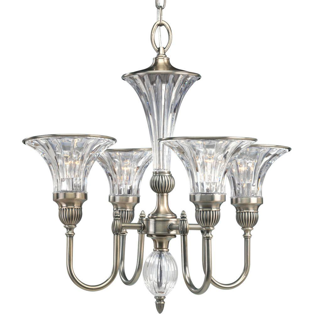 Roxbury Collection 4-Light Classic Silver Chandelier
