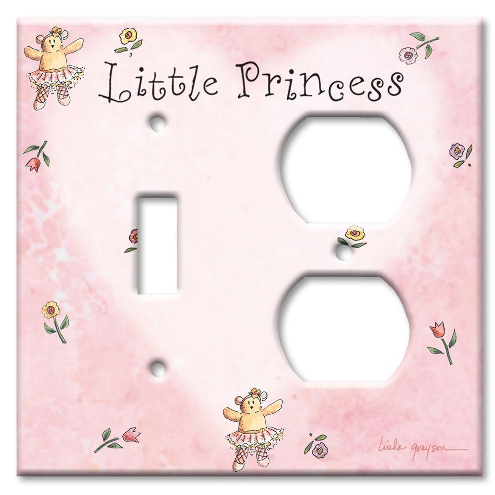 Art Plates Little Princess Switch/Outlet Combo Wall Plate