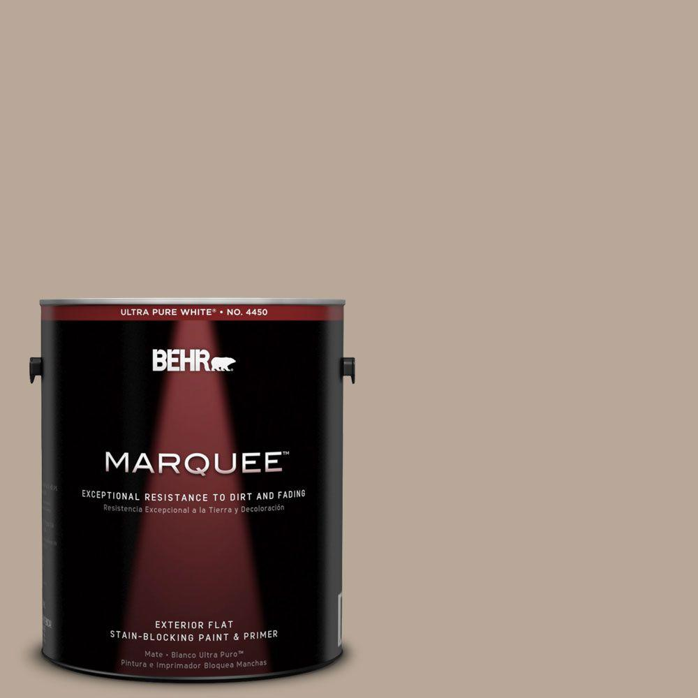 Interior Paint, Exterior Paint & Paint Samples: BEHR MARQUEE Paint 1-gal. #MQ2-20 Safari Chic Flat Exterior Paint 445401