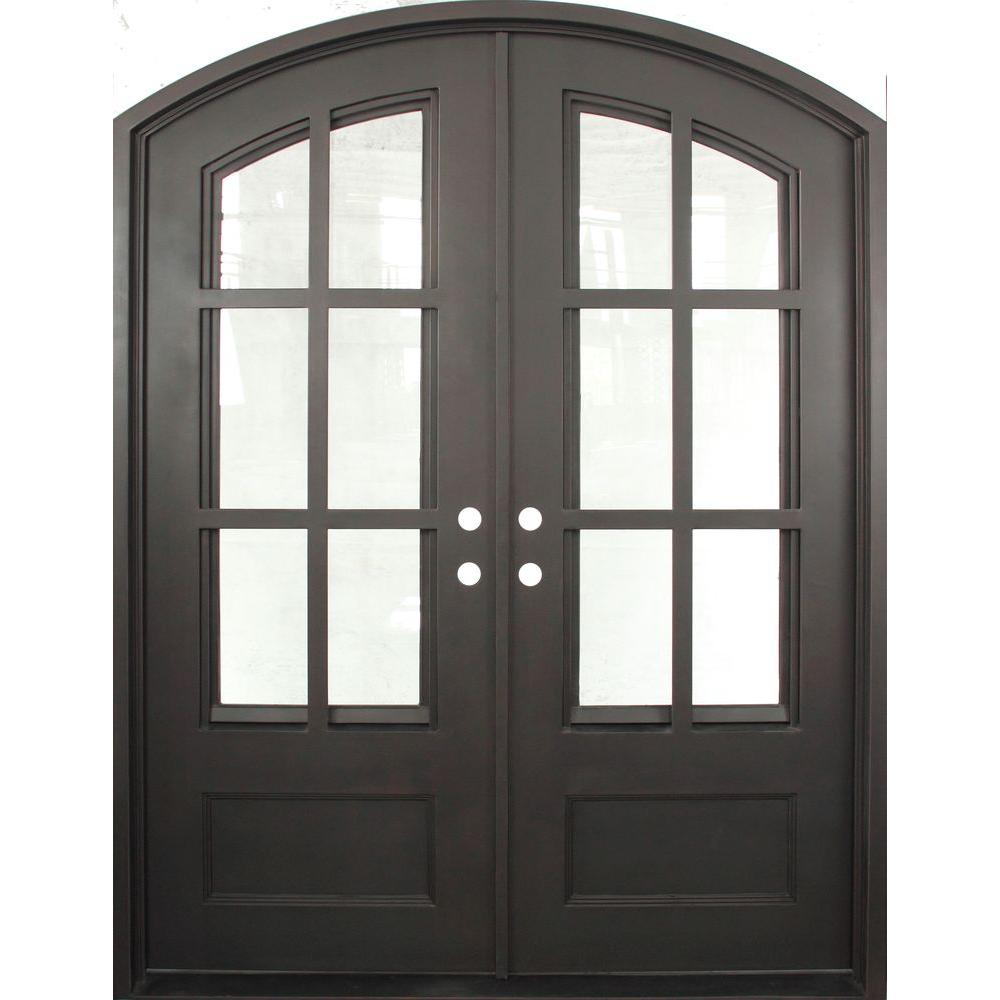 Iron Doors Unlimited 74 in. x 97.5 in. Craftsman Classic Clear