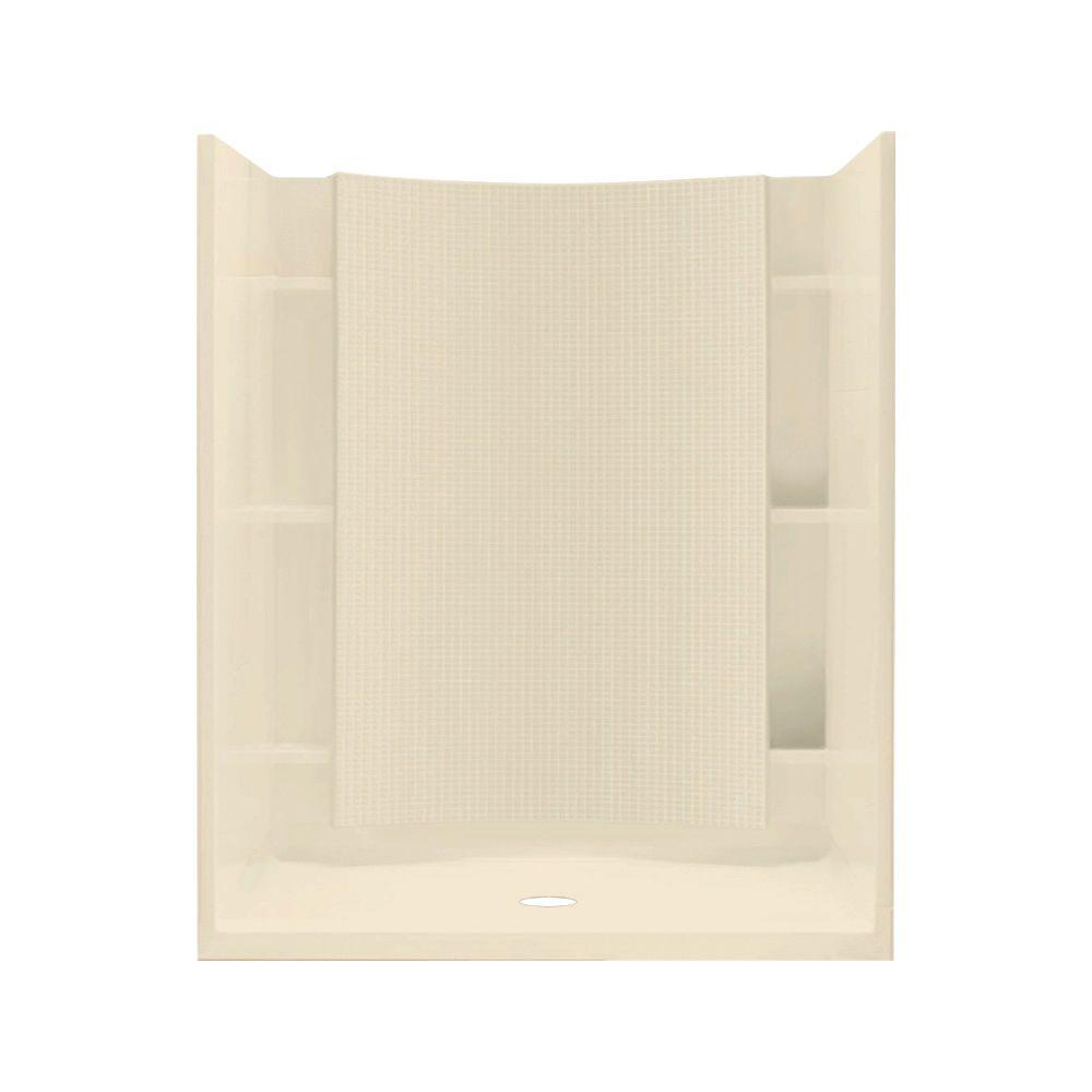 STERLING Accord 37-1/4 in. x 48 in. x 77 in. Shower Kit in Almond-DISCONTINUED