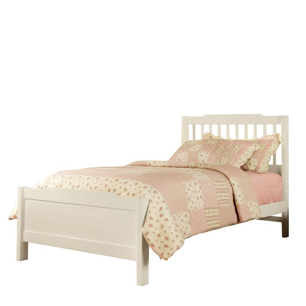 HomeSullivan Mission Style Twin Bed in White
