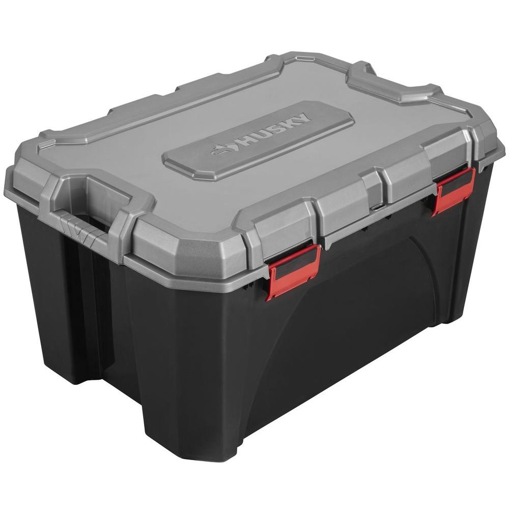 Husky 30 Gal Storage Tote 17200554 The Home Depot