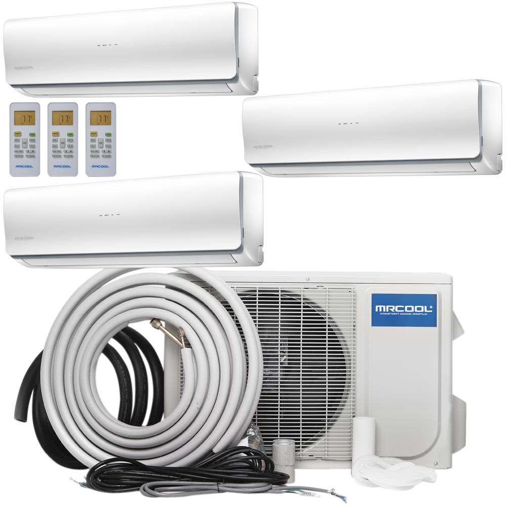 Olympus 36,000 BTU 3 Ton Ductless Mini-Split Air Conditioner and Heat Pump, 25 ft. Install Kit - 230-Volt/60Hz, White