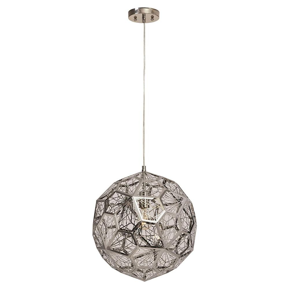 Renwil Marquise 1-Light Chrome Pendant