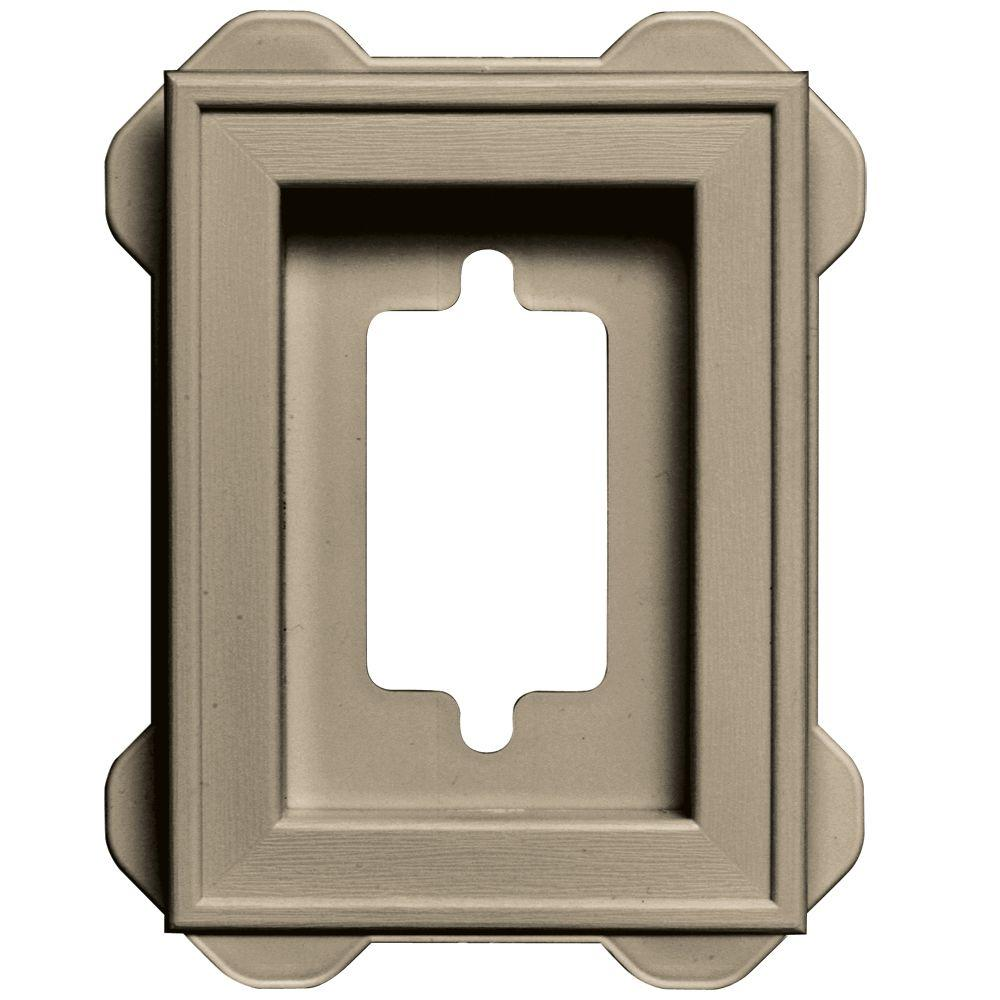 Builders Edge 4.5 in. x 6.3125 in. #085 Clay Recessed Mini Mounting Block