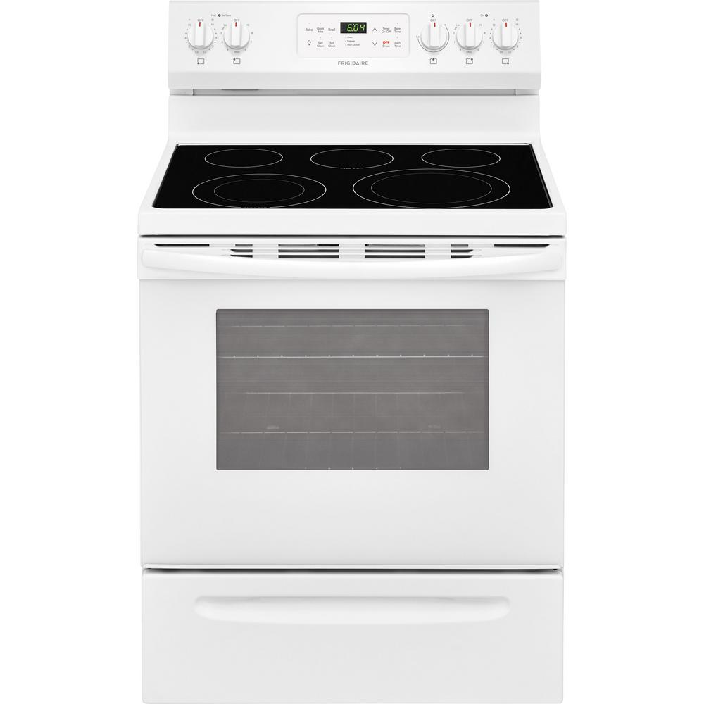 5.4 cu. ft. Electric Range with Self-Cleaning QuickBake Convection Oven in