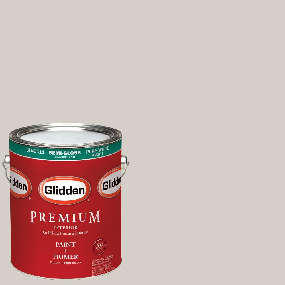 1 gal. #HDGWN49 Smooth Stone Semi-Gloss Interior Paint with Primer