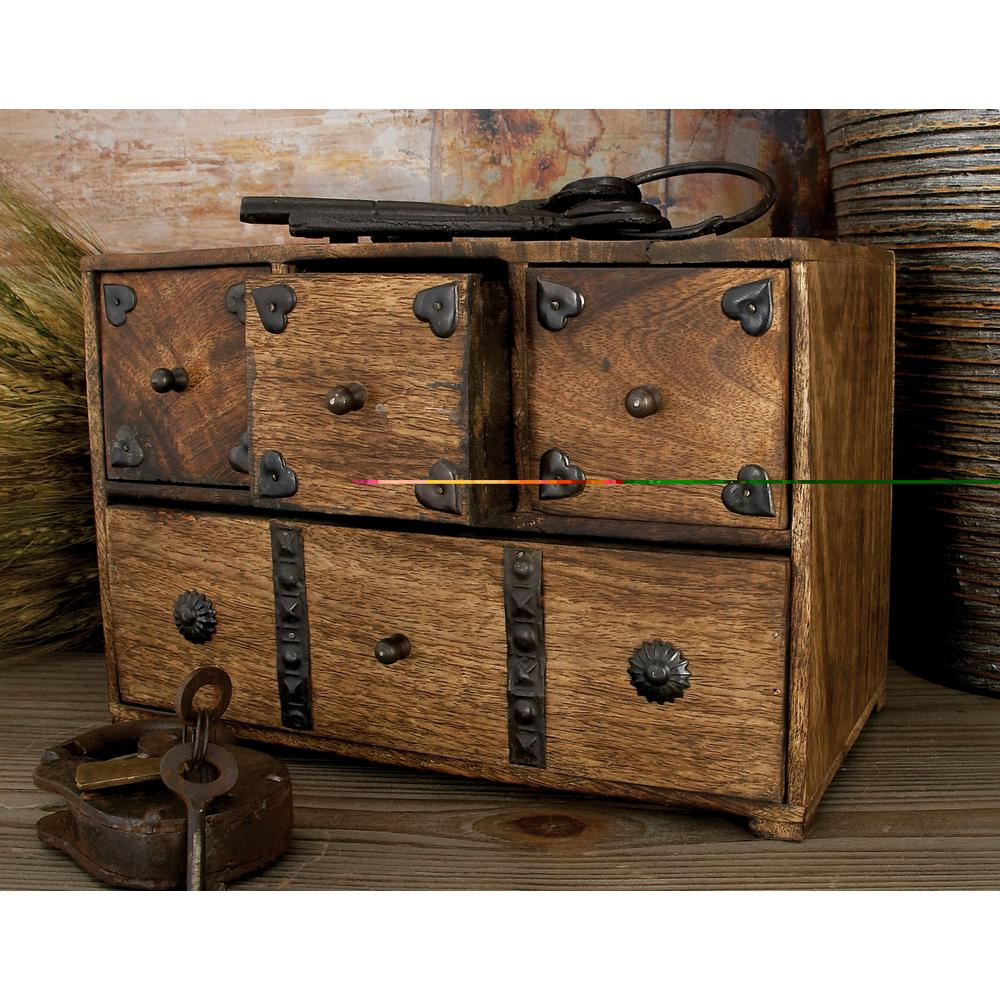 11 in. x 8 in. New Traditional Wooden Chest Box