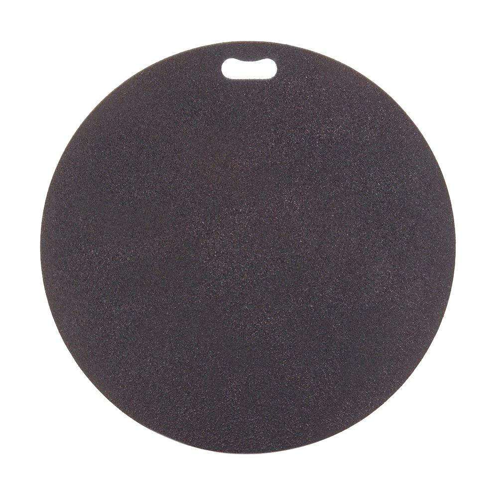 The Original Grill Pad 30 in. Round Berry Black Deck Protector-GP-30-C-BK
