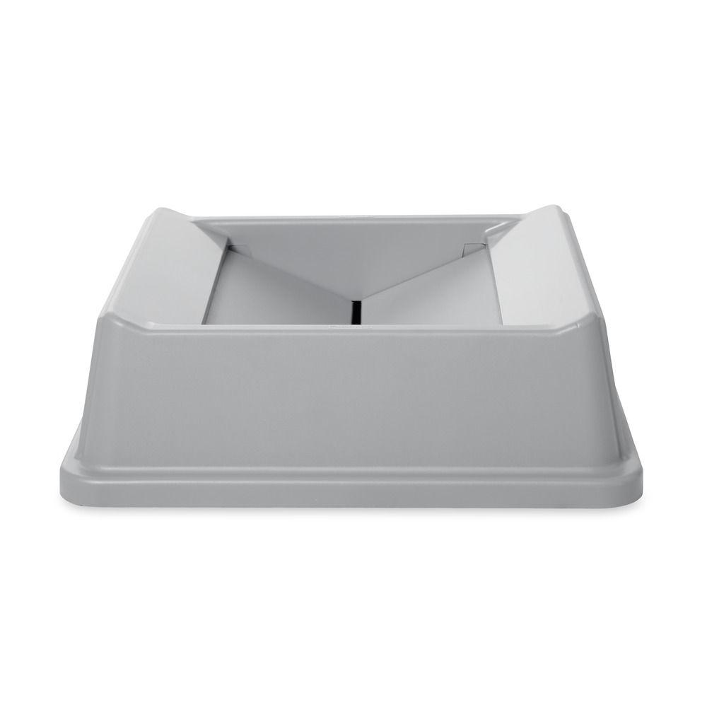 Rubbermaid Commercial Products Untouchable 35 and 50 Gal. Grey Square Trash