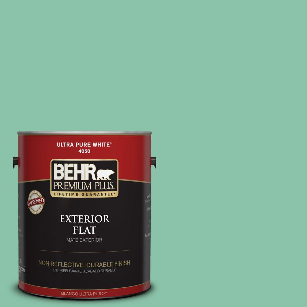 Home Decorators Collection 1-gal. #HDC-WR14-8 Spearmint Frosting Flat Exterior Paint