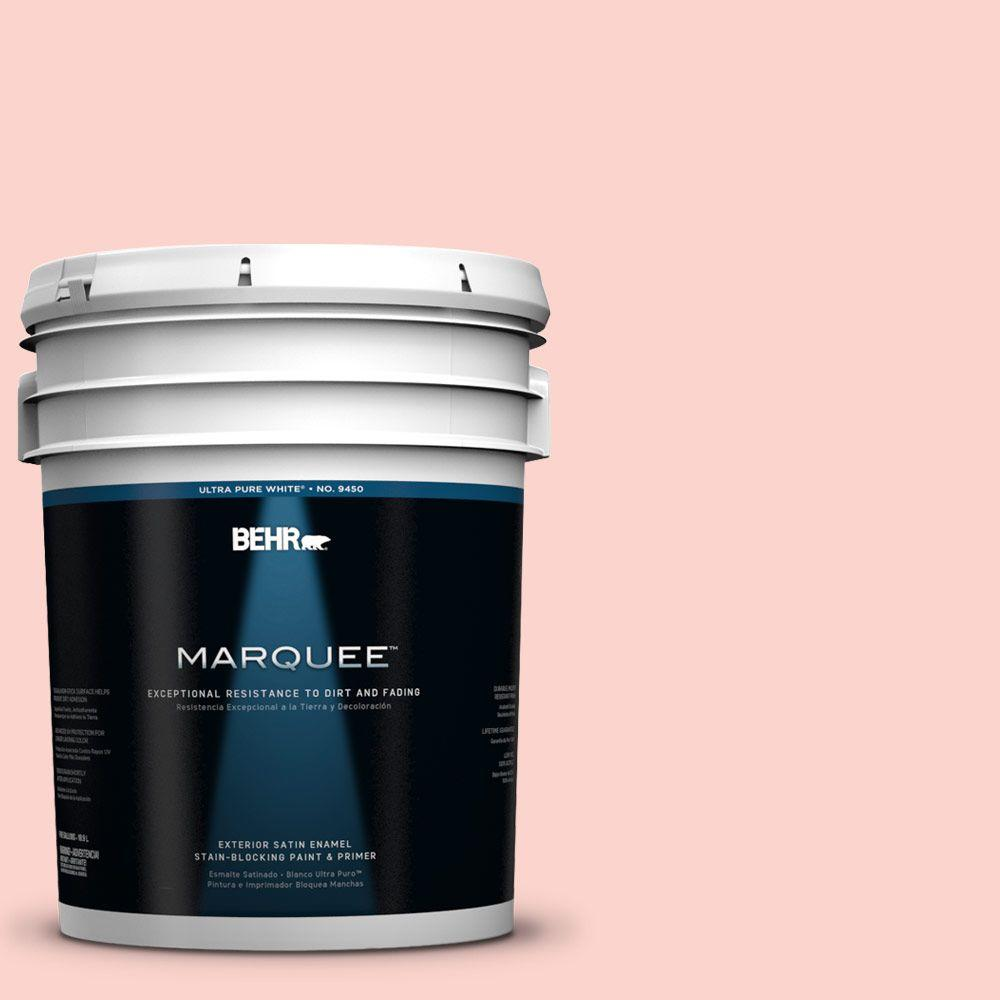 BEHR MARQUEE 5-gal. #180A-2 Romantic Morn Satin Enamel Exterior Paint