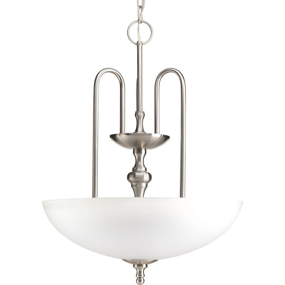 Revive Collection 3-Light Brushed Nickel Foyer Pendant