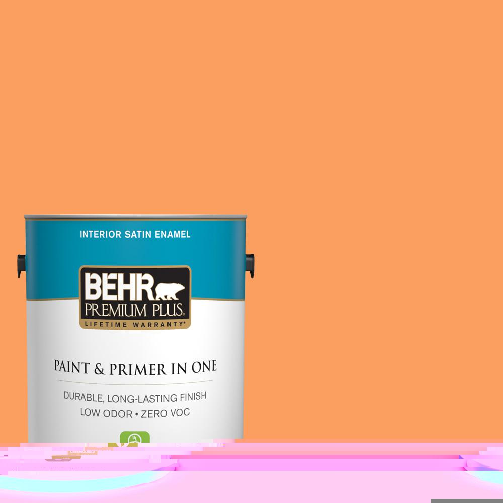 1-gal. #250B-5 Orange Spice Zero VOC Satin Enamel Interior Paint