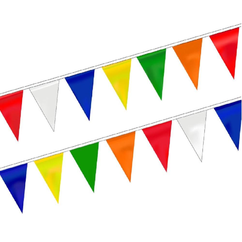 null 9 in. x 12 in. 60 ft. L Assorted Colors String Pennant