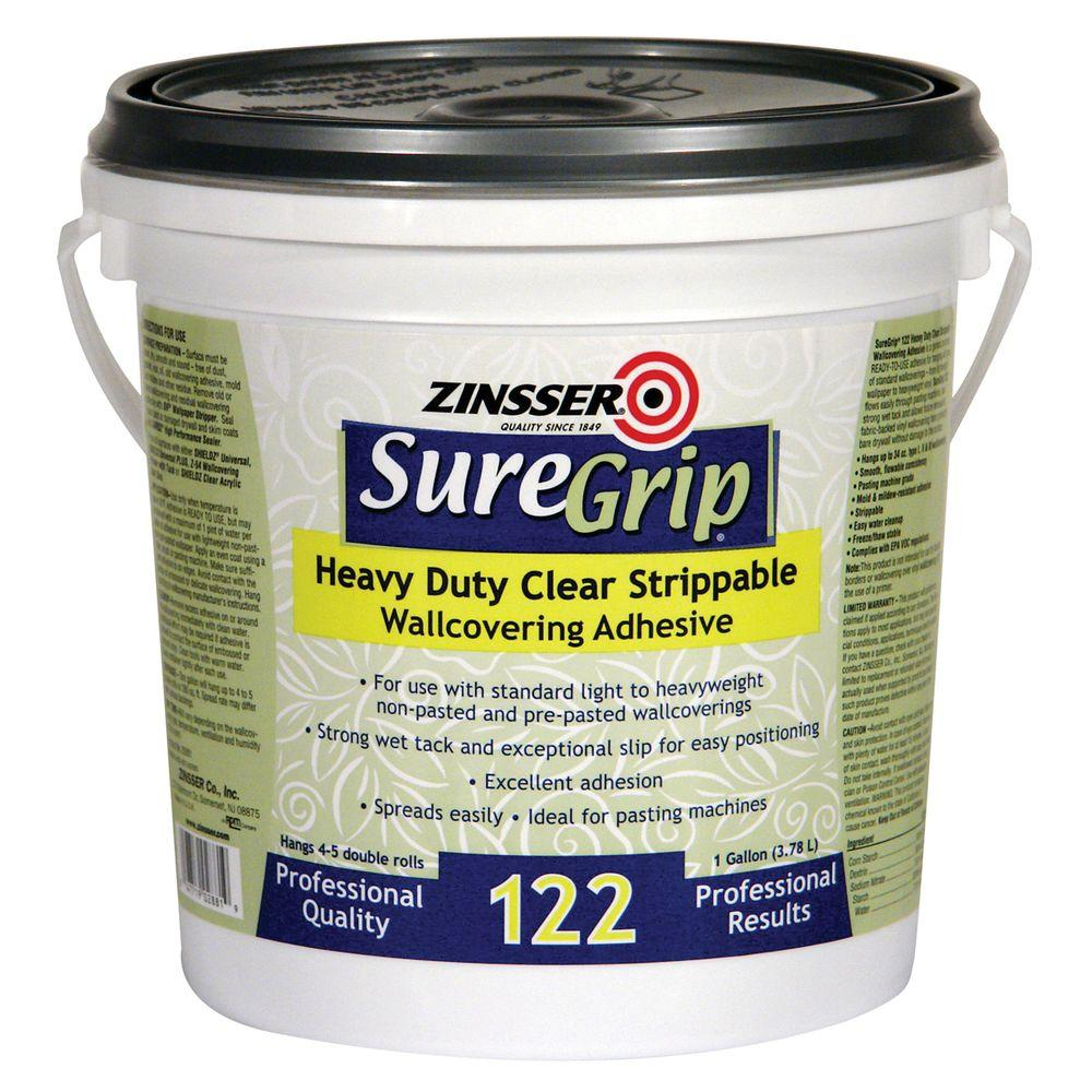 Zinsser 1-gal. SureGrip 122 Heavy Duty Clear Strippable Adhesive (4-Pack)