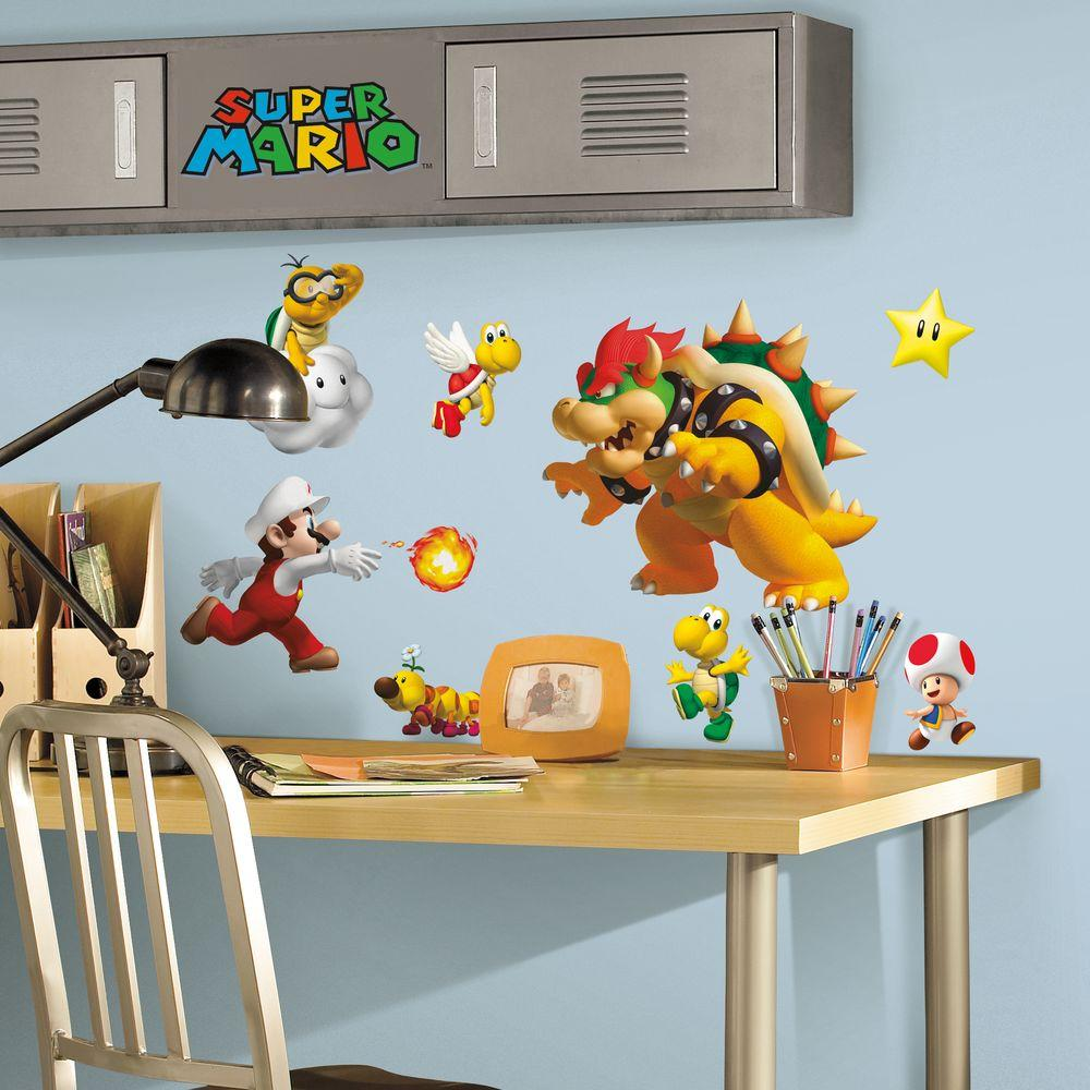 York Wallcoverings Nintendo Super Mario Peel and Stick Wall Decals-675SCS -