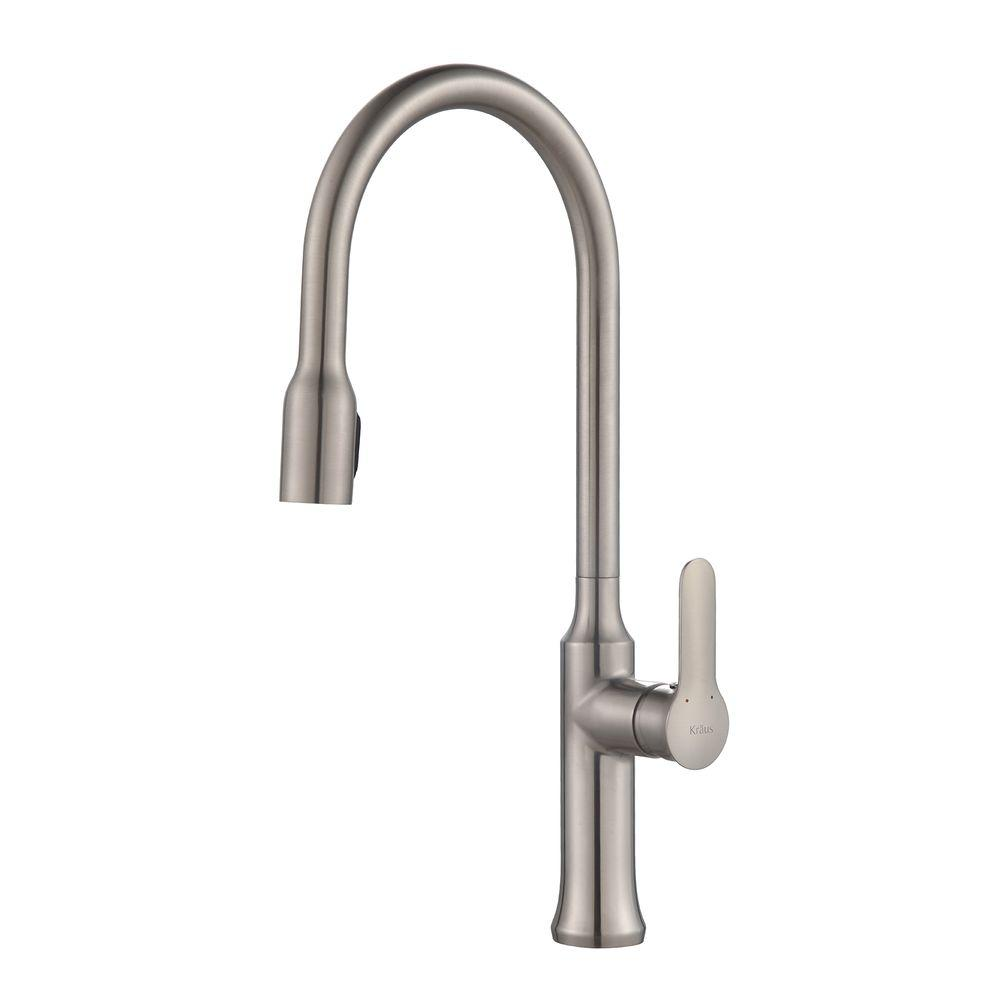 Nola Single-Handle Concealed Pull-Down Kitchen Faucet with Dual-Function Sprayer