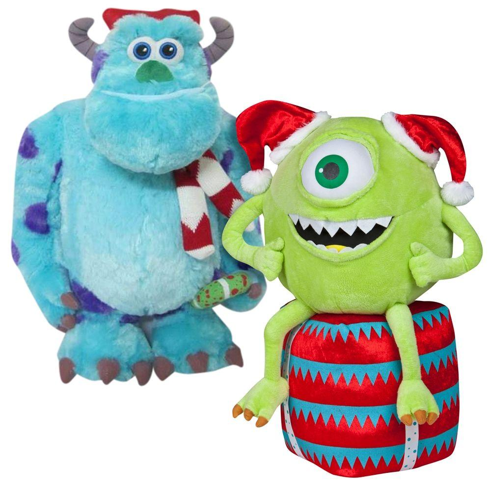 null 20.87 in. Mike and 18 in. Sulley Standing Holiday Greeter Combo Pack