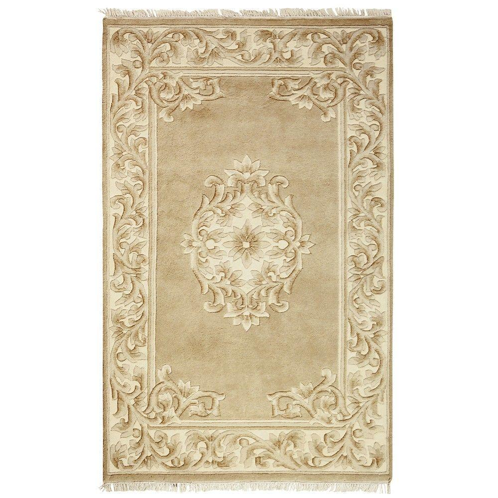 Home Decorators Collection Filigree Aubusson All-Over Gold 5 ft. 3 in. x 8 ft. 3 in. Area Rug