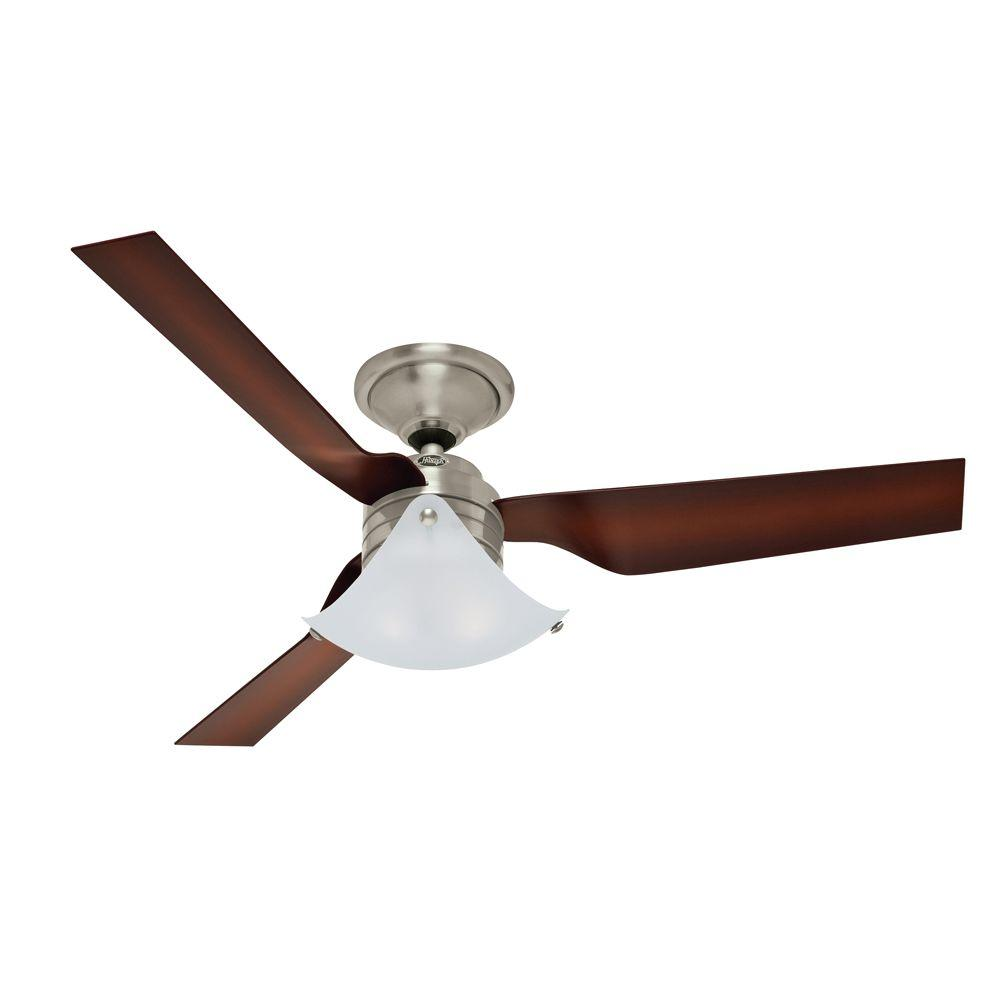 Hunter Windspan 52 in. Indoor Brushed Nickel Ceiling Fan-59012 - The