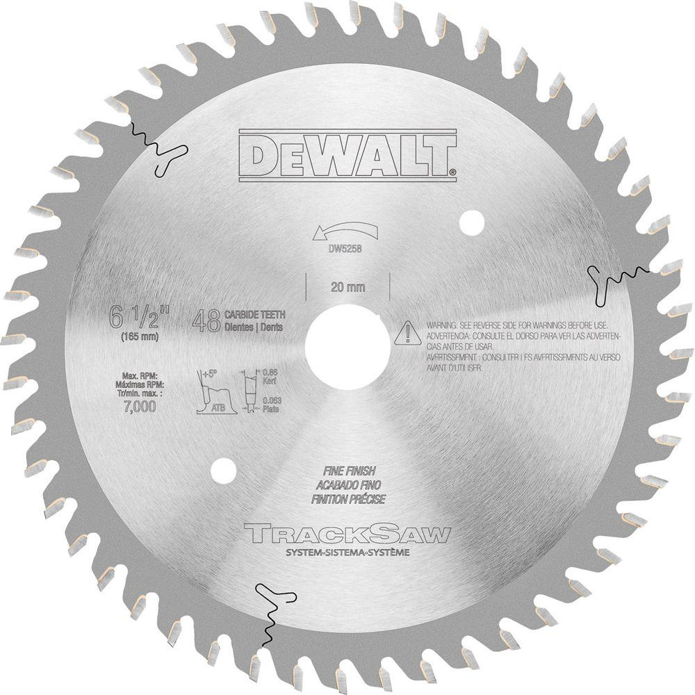 48-Teeth Precision Ground Woodworking Blade for TrackSaw System
