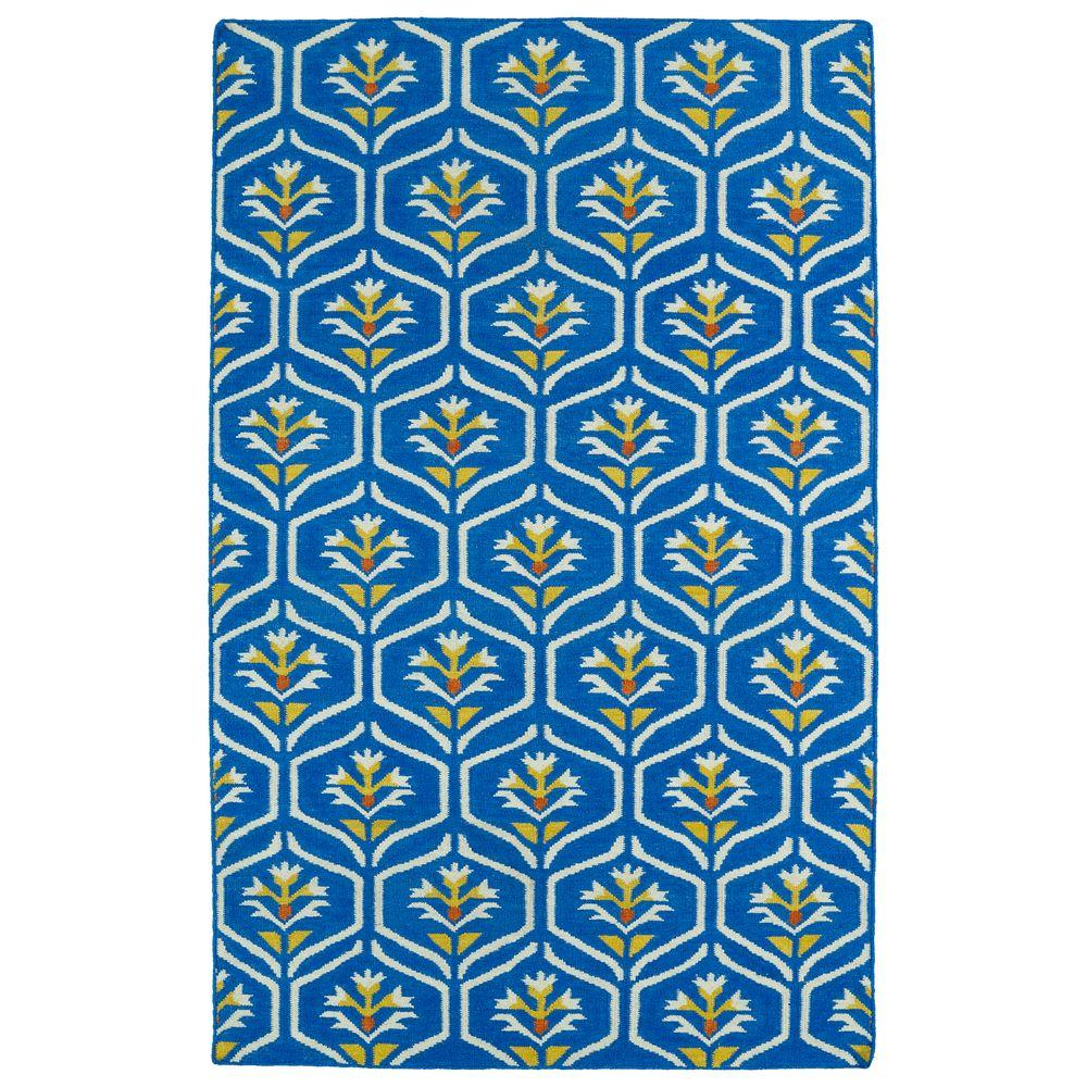 Glam Blue 9 ft. x 12 ft. Area Rug