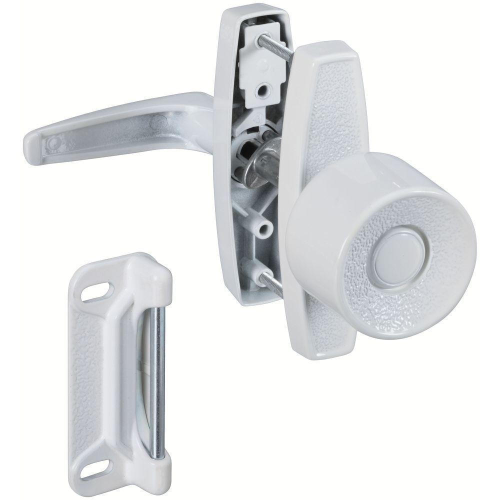 National Hardware 1-1/2 in., 1-3/4 in. and 3 in. White Universal Knob Latch
