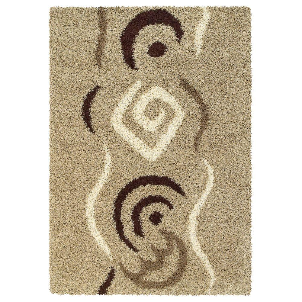 United Weavers Overstock Dreamweaver Taupe 7 ft. 10 in. x 10 ft. 6 in. Contemporary Area Rug
