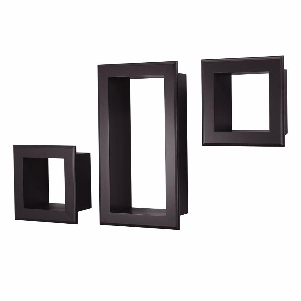 Black Shelves Wall az home and gifts nexxt framed cubbi 10 in. x 18 in. mdf wall