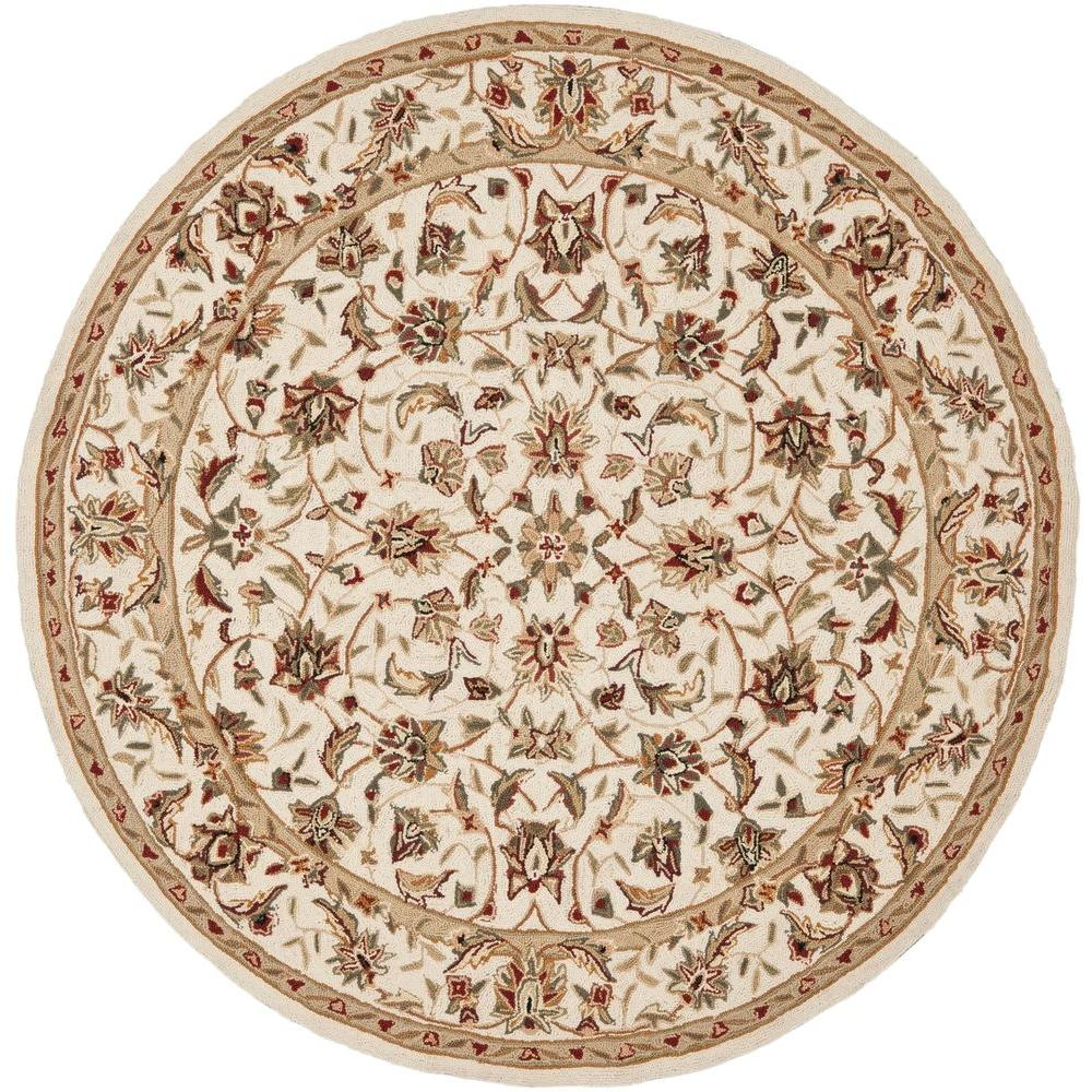 8 Ft Round Area Rug: Safavieh Chelsea Ivory 8 Ft. X 8 Ft. Round Area Rug-HK78C