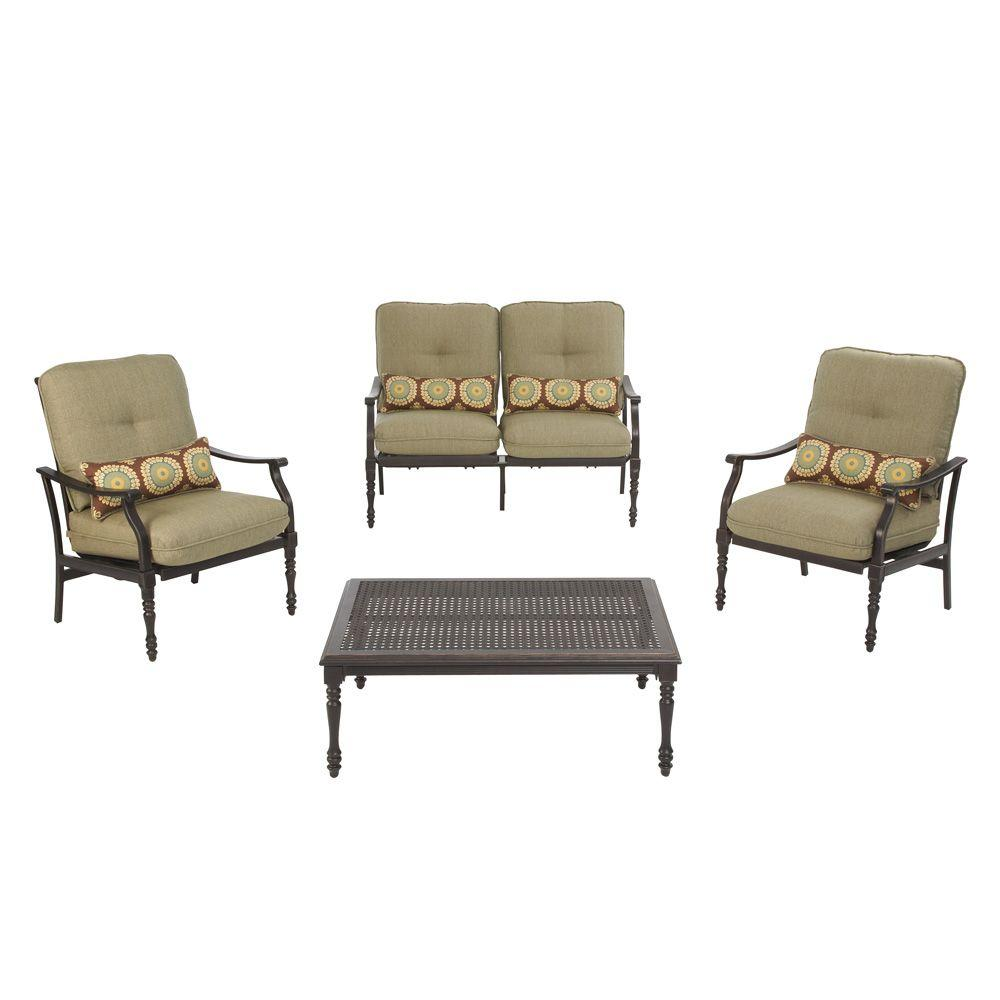 Martha Stewart Living Pembroke 4-Piece Patio Seating Set-DISCONTINUED