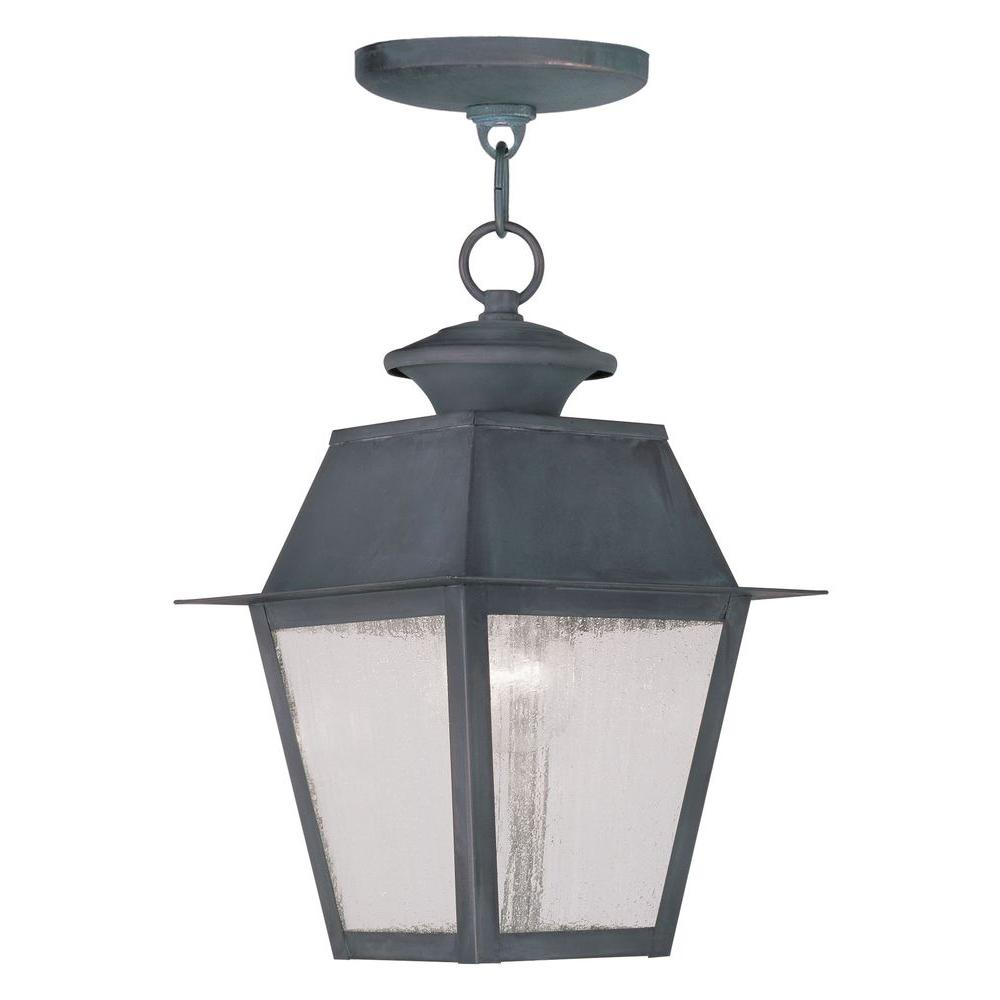 Livex Lighting Providence 1-Light Hanging Outdoor Charcoal Incandescent Lantern
